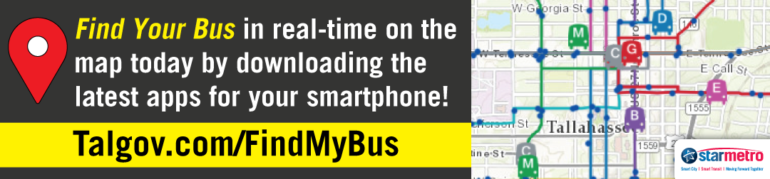 Click to be taken to a page that will show you all the different ways to find your bus in real time using an interactive map or downloadable smartphone application