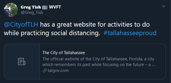 City has a great website for activities to do while practicing social distancing.