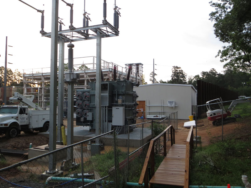 Substation 12 construction update photo - step up generator